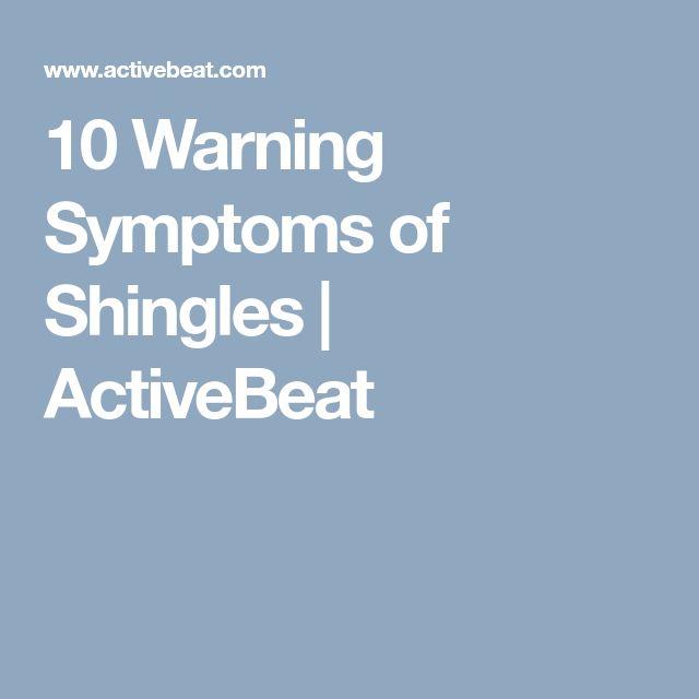 10 Warning Symptoms of Shingles | ActiveBeat