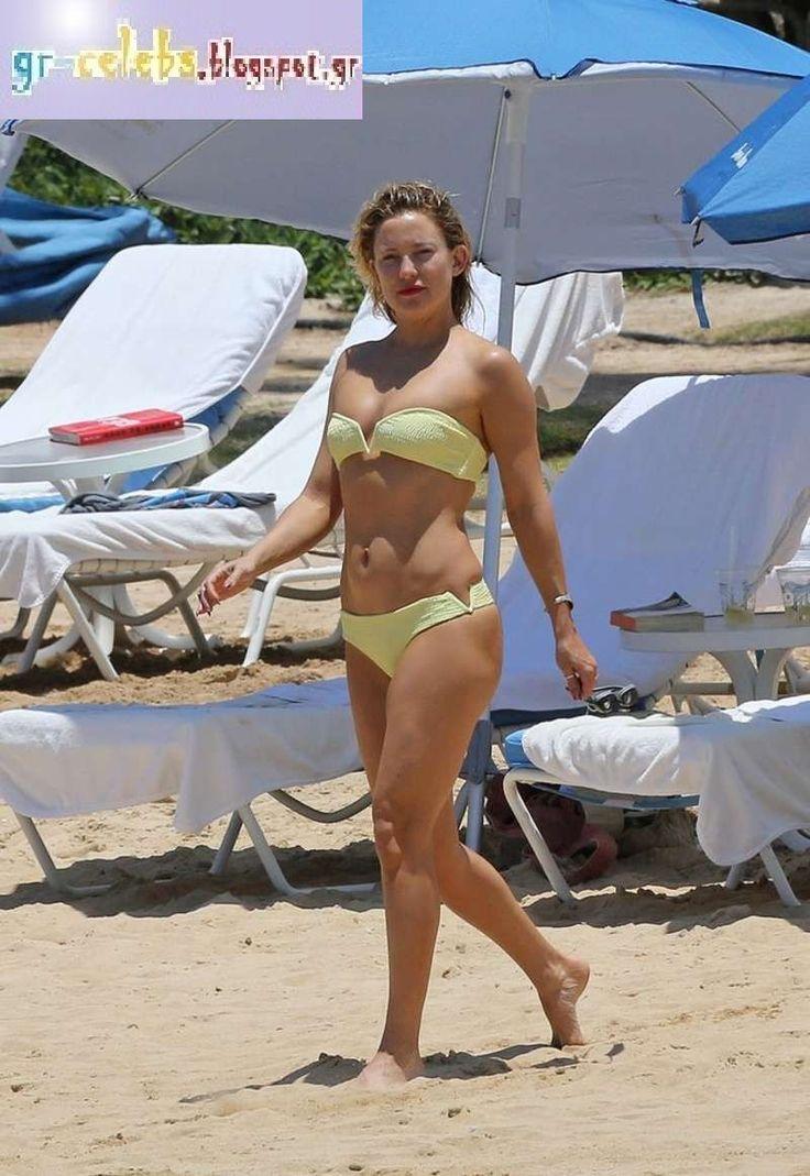 Ελληνίδες Celebrities : Η Kate Hudson με κίτρινο μπικίνι σε παραλία στη Hawaii