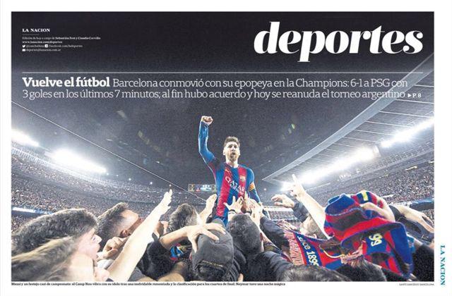 Habló el fotógrafo de Barcelona: la historia detrás de la imagen de Lionel Messi que dio la vuelta al mundo  La tapa de LN Deportes.