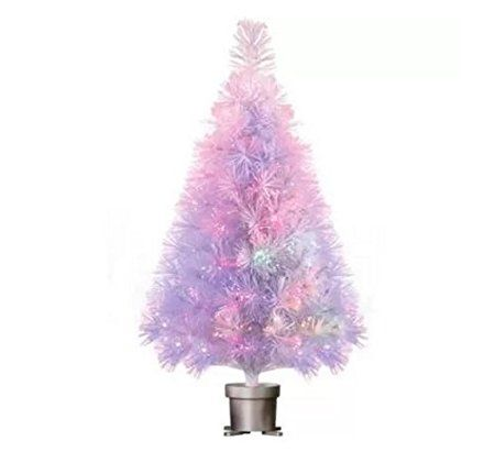 Buying Christmas trees online is more popular than  ever.  It is convenient, easy and very  affordable.  A great option for those  with Pine allergies.  I love the look of  artificial Christmas trees especially the pre-lit ones as they are the easiest.  I also love all the colors and types  available from tinsel trees to more abstract #Christmas trees for Xmas 2017       Holiday Time Pre-Lit 32 White Fiber Optic Artificial Christmas Tree by Holiday Time