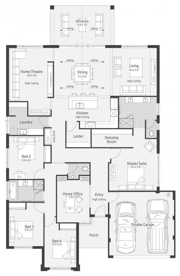 Casablanca Display Home Lifestyle Floor Plan Home Design Floor Plans Floor Plans House Blueprints
