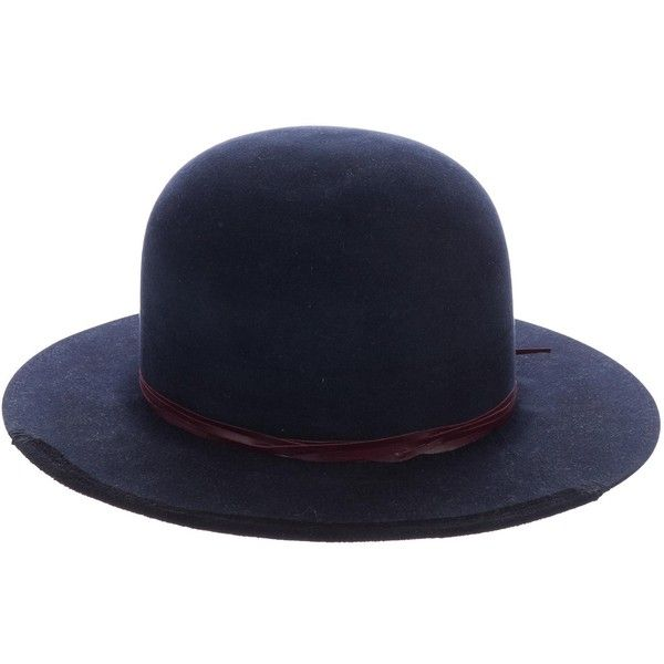 Pre-owned Nick Fouquet Hat 260 Felted Fedora Hat ($795) ❤ liked on Polyvore featuring men's fashion, men's accessories, men's hats, blue, mens wide brim fedora, men's brimmed hats, mens felt fedora and mens hats fedora