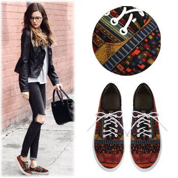 SBG9439Oriental Pattern Canvas Shoes