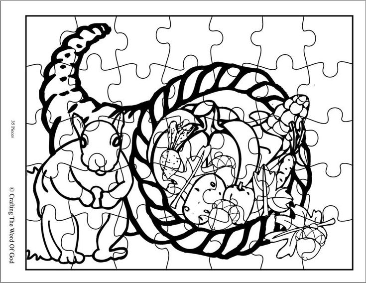 Thanksgiving Puzzle 1 Activity Sheet
