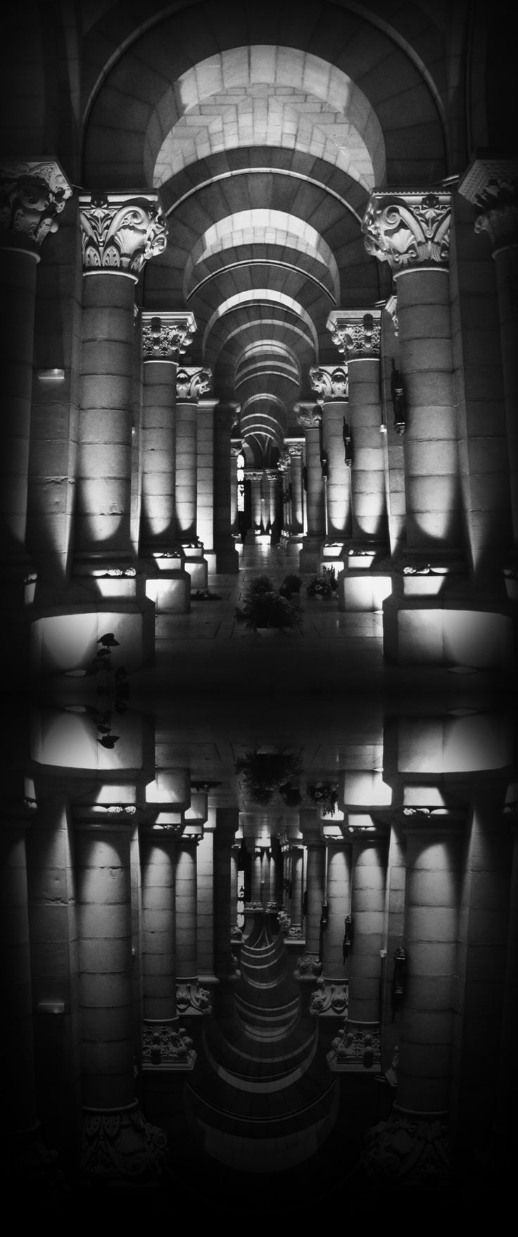 © Laura B. Fernández - The Crypt of the Cathedral de La Almudena, Madrid, Spain. 2012. S)