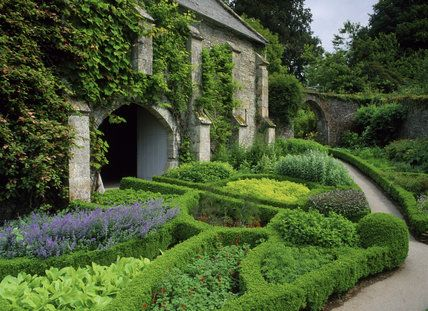 The Herb Garden beside the Great Barn at Buckland Abbey, UK. Photo by ©NTPL/Andrew Butler via www.ntprints.com.