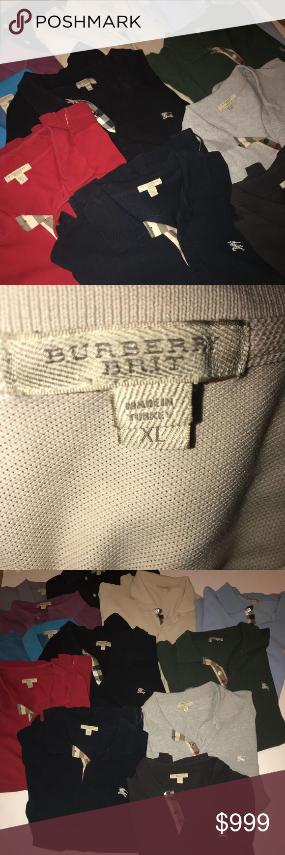 Burberry polo shirts Mint condition: best offer accepted for bundle Burberry Shirts Polos