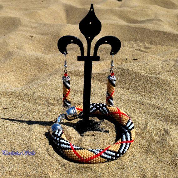 Bracelet Burbery/Bracelet of beads/Bijoux/Jewelry of di BeadsWay