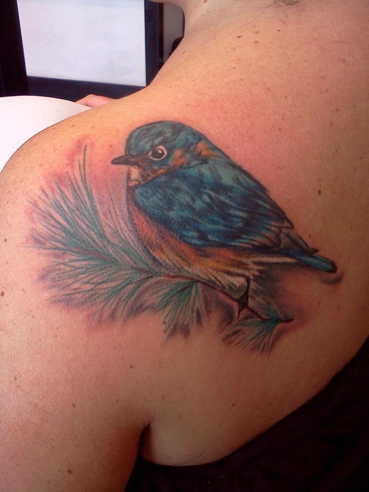 Pretty Little Bluebird Tattoo By Miss Autumne Garland