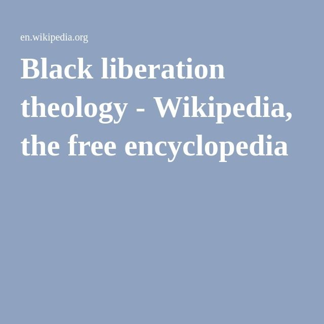 black liberation theology Full-text paper (pdf): a black theology of liberation.
