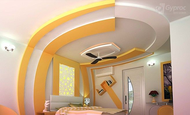 False ceiling designs for bedroom saint gobain gyproc for Roof ceiling design in india