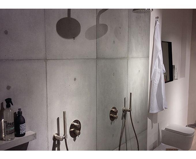 Badkamer Wandpanelen Badkamerlamp : Betonloods betonlook met echte betonnen wandpanelen betonnen