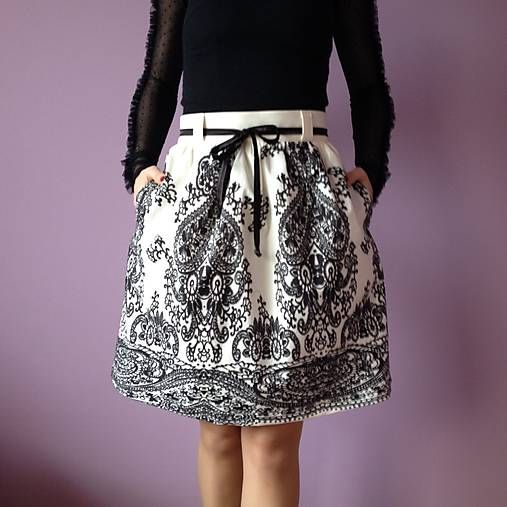 LuxuryCouture / Sukňa ornamentová