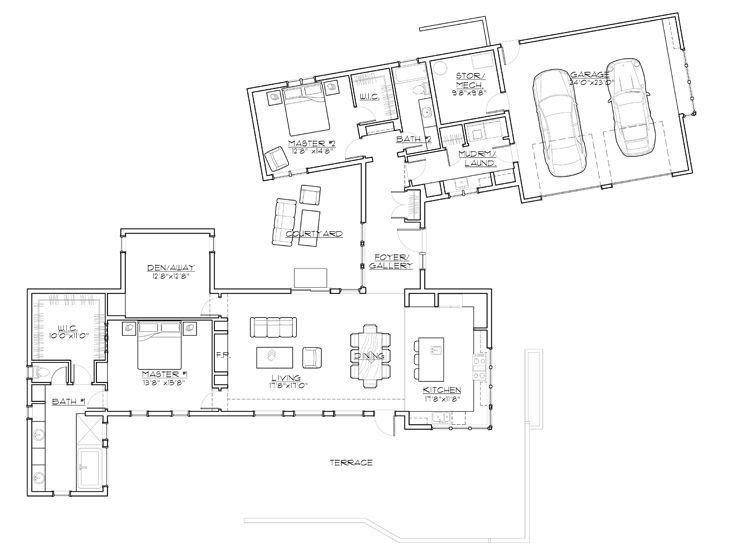 Floor Plan 081h 0011 Modern Style House Plans Contemporary House Plans Floor Plan Design