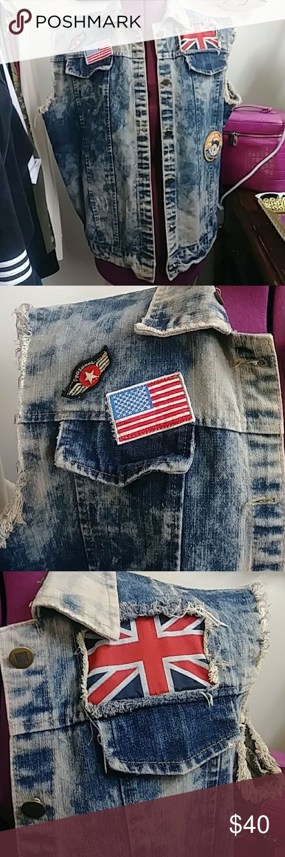 Hudson Jean Co. Jean Vest Mens L awesome and stonewashed. from the company that designs BAPE EUC NO FLAWS. Hudson Jeans Shirts