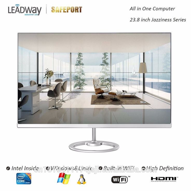 Barebone All in One PC 23.8inch Frameless LED Intel Skylake H110 for office home Jazziness Series