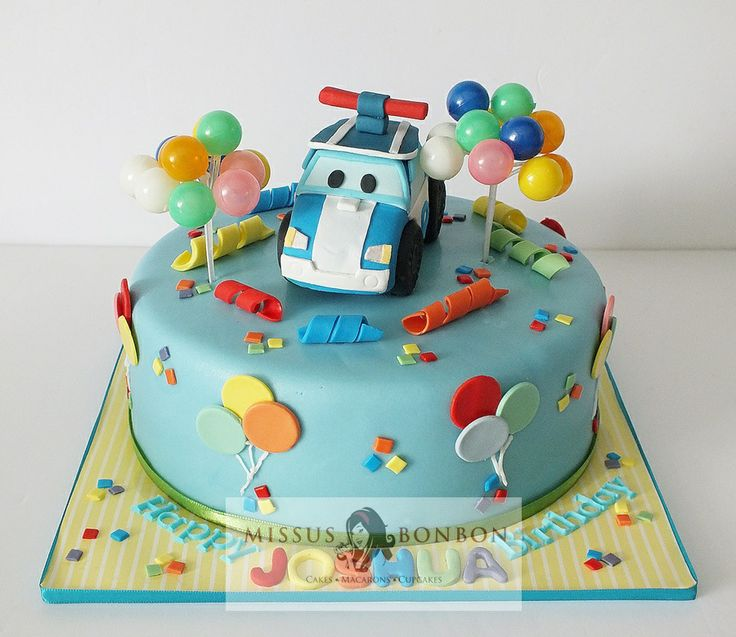 Joshua's Poli Robocar Cake for his 3rd birthday!