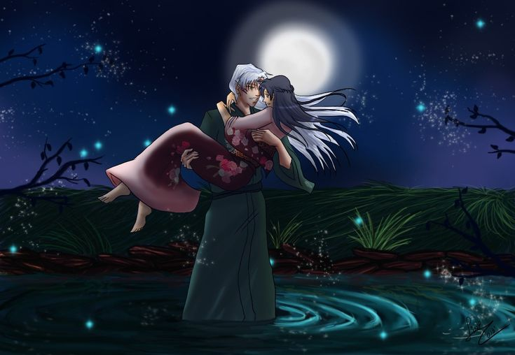 Love Wallpapers Maker : chibi love::May (wallpaper) by RedShootingStar.deviantart.com on @deviantART Sesshomaru x Kagome ...