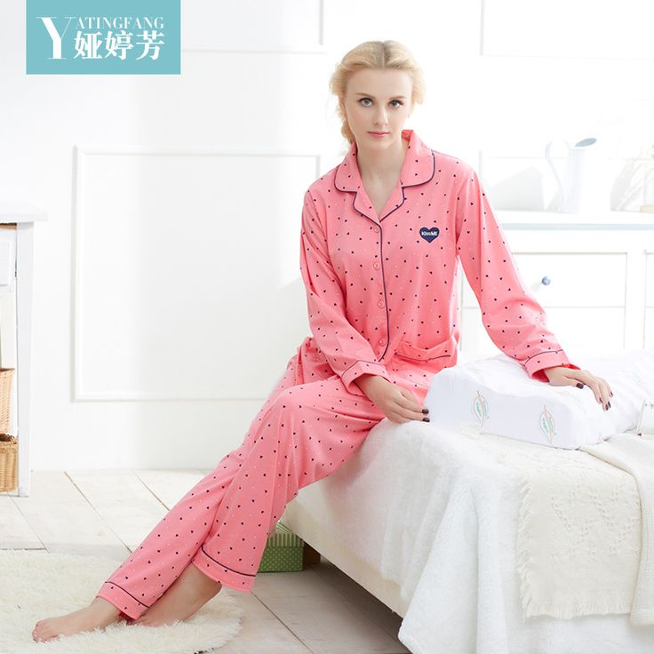 Buy Now! 2016 new autumn and winter pajamas women's quality cotton comfortable comfortable cartoon home service quality thickness