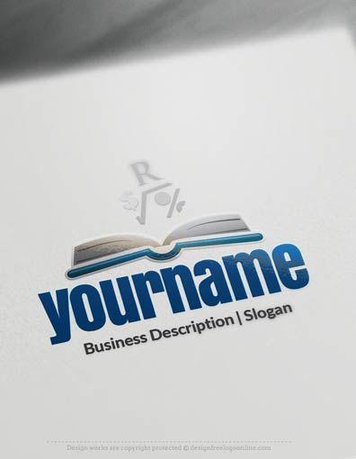 Create a Logo Free – Book Open Logo Templates