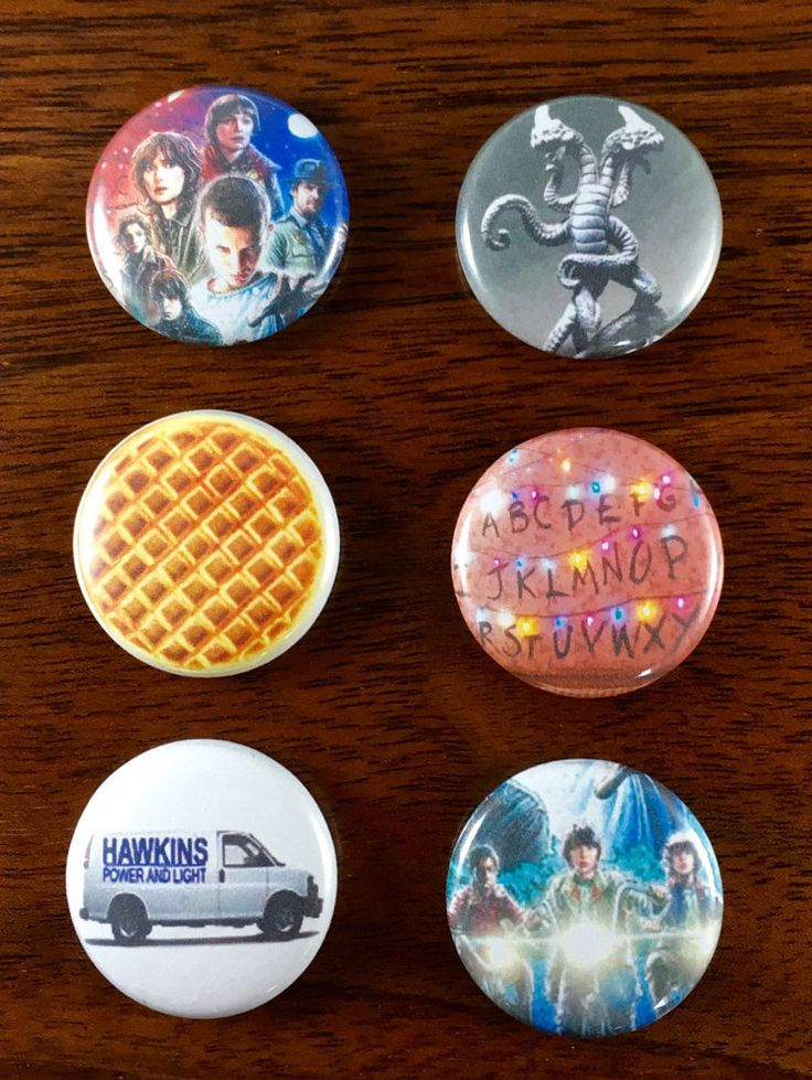 The Upside Down Stranger Things 1 Pins and by AtomicCityButtons