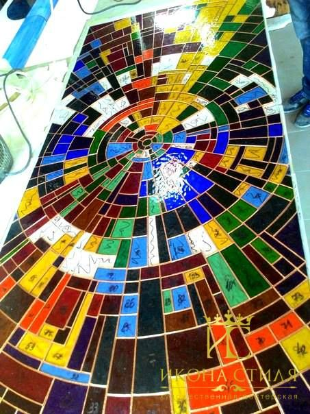 We are sending just completed Tiffany stained glass window to mount it. It will decorate a niche in the customer`s apartment. #art #stainedglass #studio #window #workshop #workflow #craft #glass #decor #design #interior #architecture