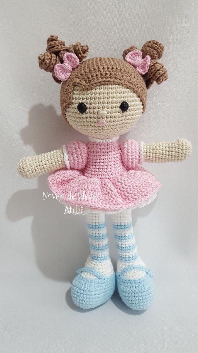 Boneca amigurumi/ boneca crochê no Elo7 | Novelo de idéias ...