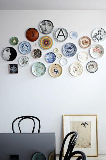Les 25 meilleures id es de la cat gorie assiette murale sur pinterest murs de lambris tableau - Idee van deco eetkamer ...