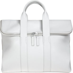 always choose a zippered bag for travel...Phillip Lim 31 Hour Bag