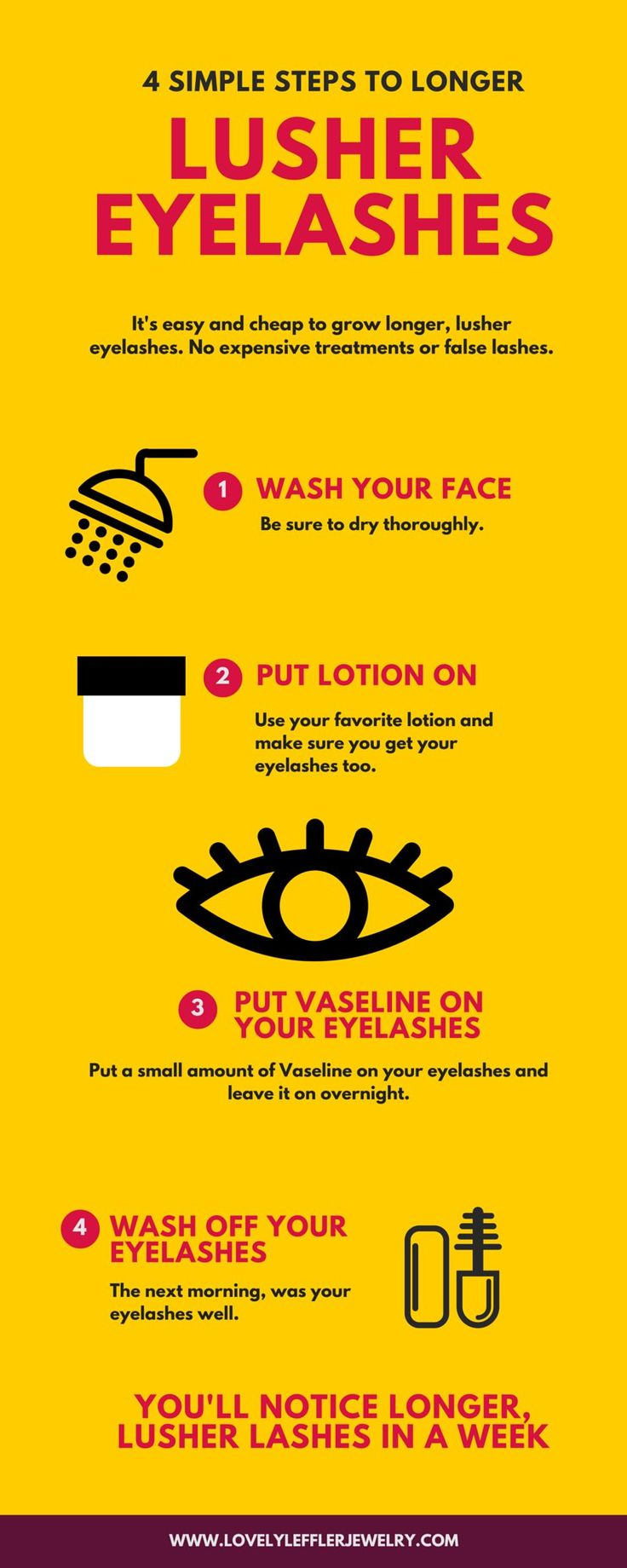 How Can I Make My Eyelashes Grow Faster? 4 easy steps to get longer, lusher eyelashes.