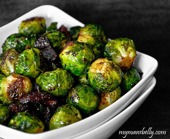 roasted brussels sprouts, easy thanksgiving recipes, cast iron skillet recipes
