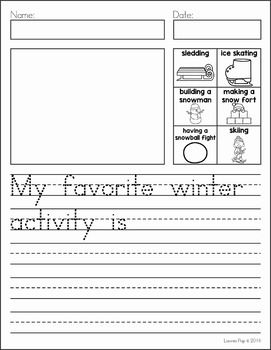 Writing Journal Prompts December. My favorite winter activity is