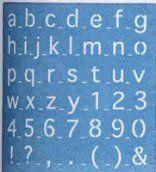 www.dekwast.nl  rayher sjabloon schrift 361 Kwast prijs € 7,95 Letter-Cijfer Sjabloon. Onderkast Maat 30x30