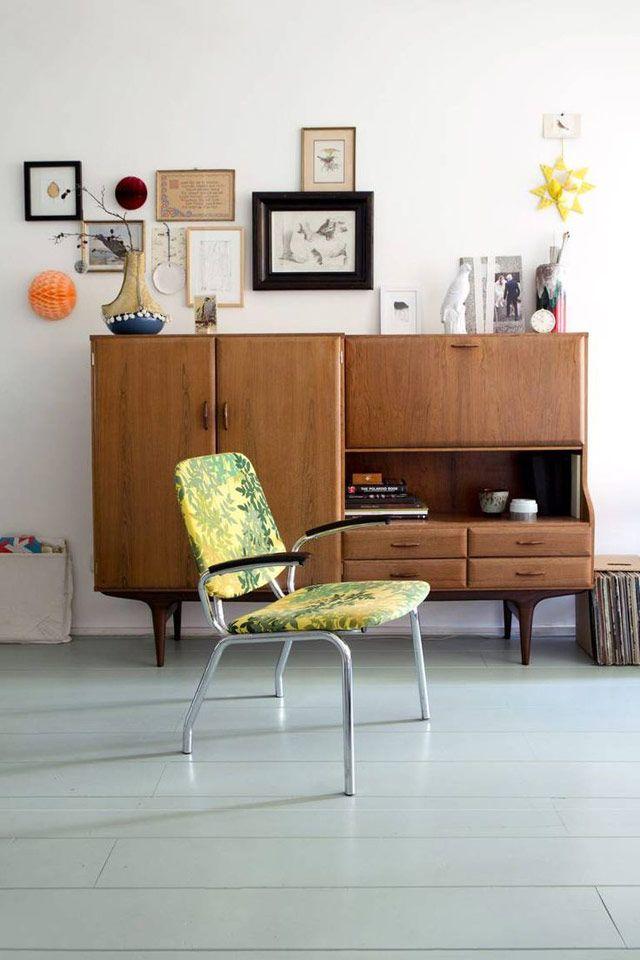 Illustrator Maartje Van Den Noort and furniture designer Ruben Van Der Scheer's Amsterdam apt via House of C | Remodelista