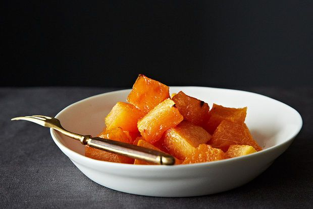 The Joy Kitchen's Roasted Cantaloupe - This recipe will  help you save non-sweet or unripe melons (you can also do this other not so sweet tasting fruit as well). Finding a ripe melon is so hard, I've stopped buying them. This may tempt me to try again!
