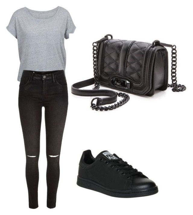 """""""Untitled #36"""" by jackeline1913 on Polyvore featuring River Island, adidas and Rebecca Minkoff"""