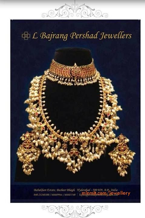 Pearl Necklace / Gotta Pusala Set from Bajrang Pershad Jewellers