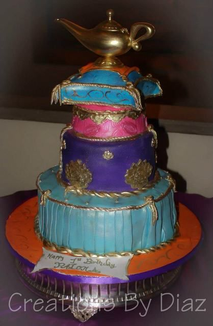 78 best images about princess jasmine aladdin theme for Arabian cake decoration