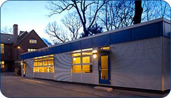 Award winning Carroll School green modular classroom, swing space, temporary modular classroom, #redefiningmodular