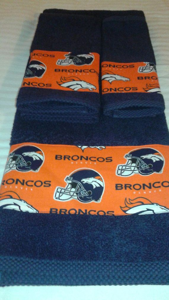Denver Broncos NFL Bath Towel Set New Fabric Now Available!!! All Teams Available