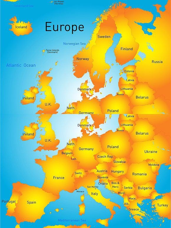 map of europe continent. Advertise #administrative #background