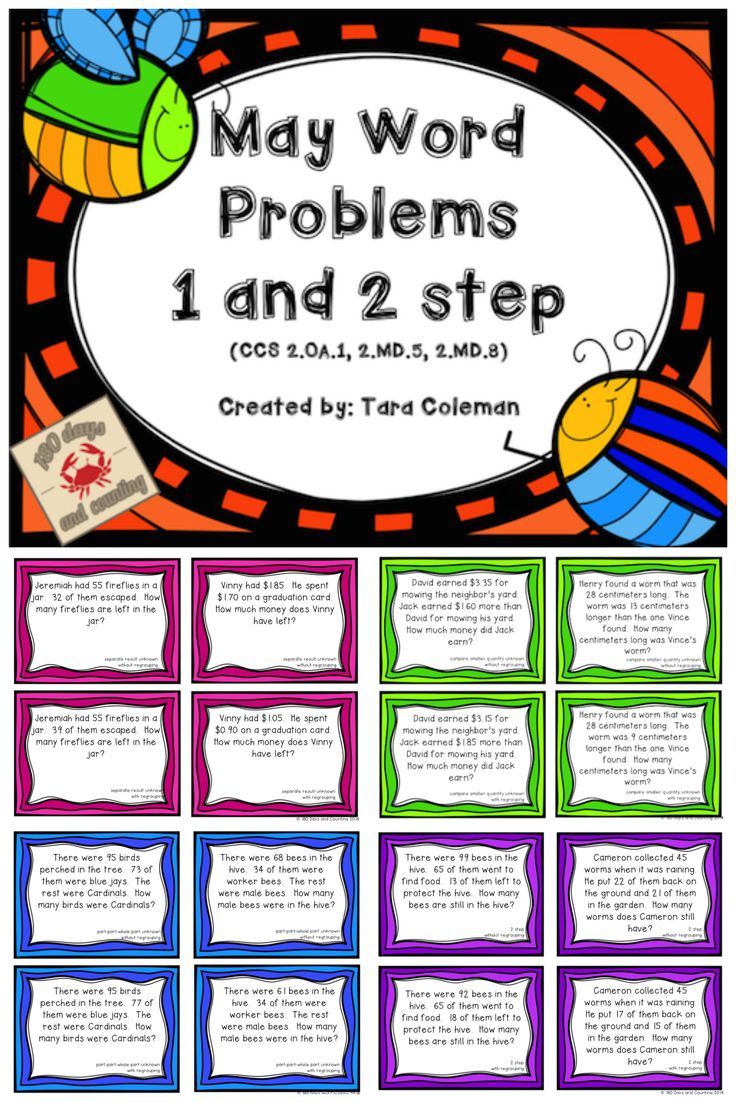 Worksheet 2 Step Story Problems 1000 images about word problems on pinterest may 1 2 step has 36 with regrouping and
