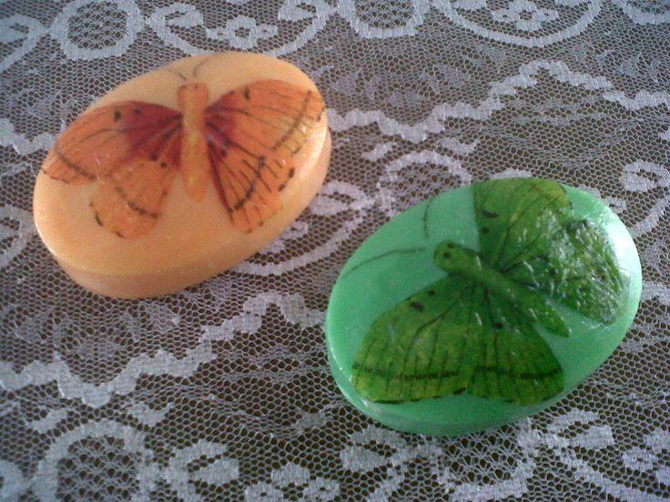 Decoupage con mariposas