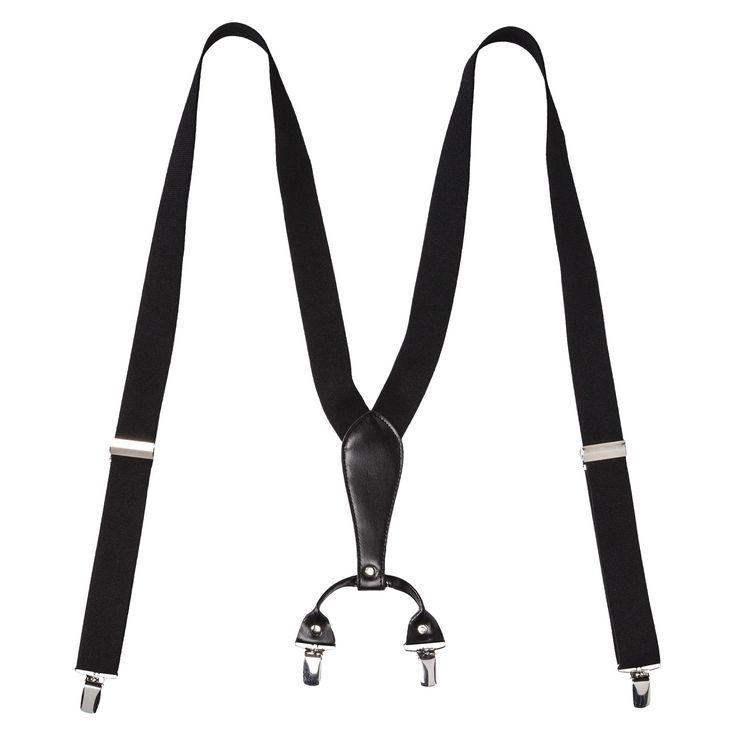 Men's Suspenders - Black - Merona