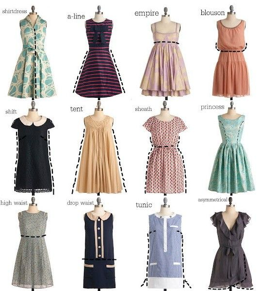26 best images about names and types of dresses skirts