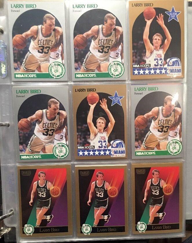 1990 Skybox Hoops All Stars Larry Bird Skybox Lot of 9CARDS 1sheet | eBay