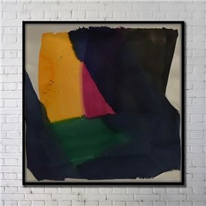 Contemporary Wall Art Colorful Abstract Wall Print with Black Frame 40