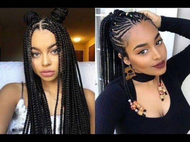 Latest Braids Hairstyle Di 2020 Gaya Rambut Rambut Model