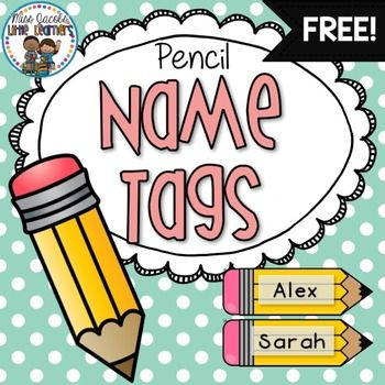 FREE Pencil Name Tags