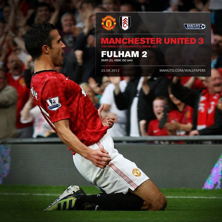 Robin Van Persie scores his first goal for United. Congratulations RVP!